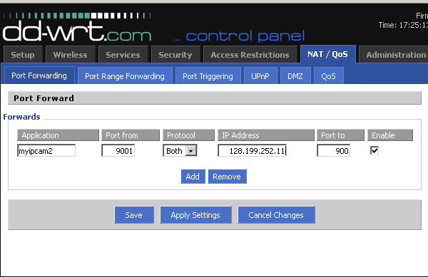 how to change router ip dd-wrt