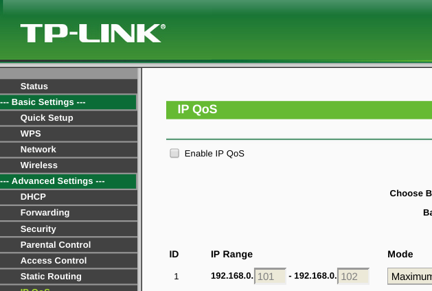 Tutorial to Limit Wifi Speed on TP-Link TL-WR720N Router