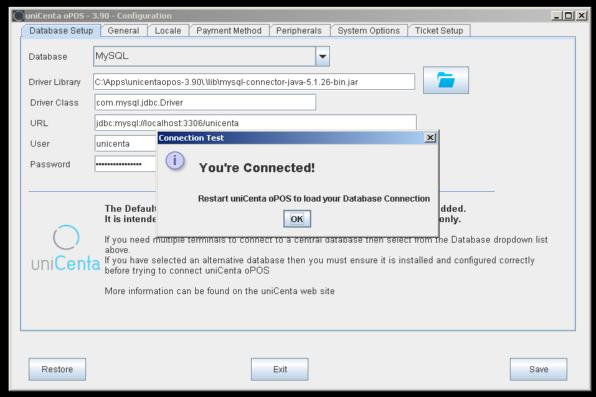 How to Configure Unicenta oPOS with MySQL Database Server