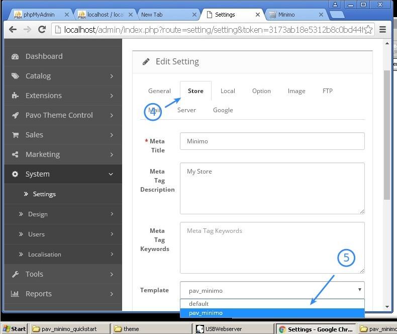 Screenshot - Activating the Theme