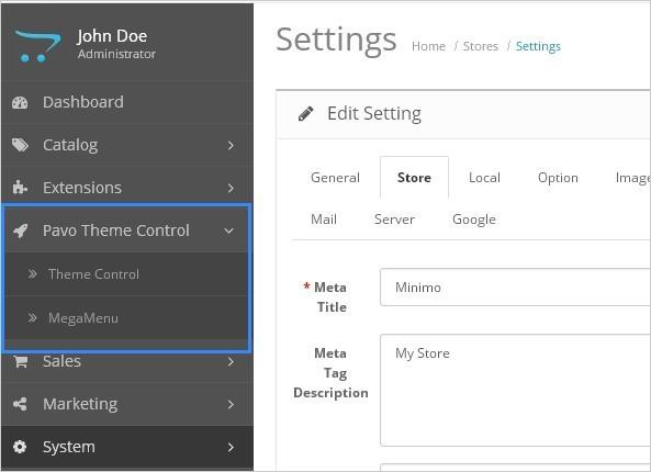 Screenshot - Theme Additional Configuration