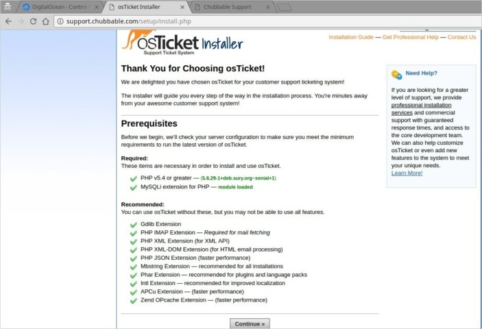 Screenshot - osTicket Requirements - All Green