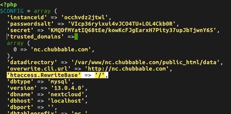 Screenshot of Enabling Pretty URL
