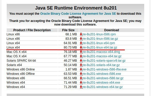 Reference Photo: Java JRE Download Page
