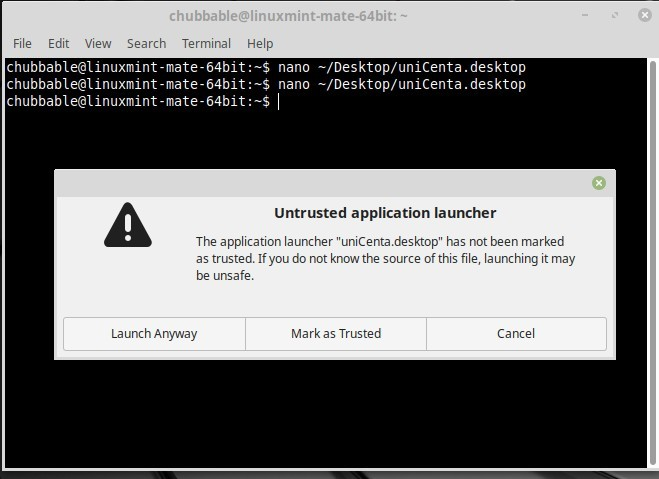 Reference Image: Untrusted Application Warning